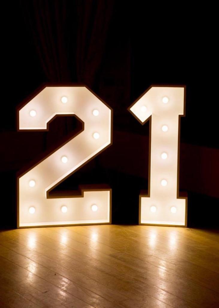 numere decor luminos pentru petreceri